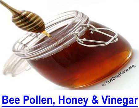 BEE POLLEN, HONEY & VINEGAR: Honey for burns, bee pollen for allergies, apple cider vinegar for cystitis and more...