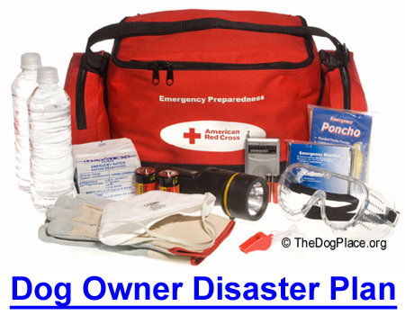DOG OWNER DISASTER PLAN: Dr. Patricia Jordan DVM on pet I.D.'s, the what and where to get emergency kit supplies, what you MUST have on hand, and who to contact in a disaster.