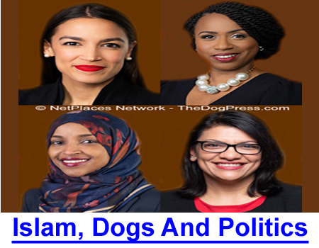 ISLAM, DOGS & POLITICS: Media focus on hijab-wearing congress women distract from legislative attacks on American tradition and dog owner discrimination.