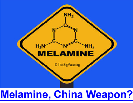 MELAMINE RISK, CHINA'S SECRET WEAPON? FDA warning ignored by media as offshore manufacturing imports contaminated ingredients.