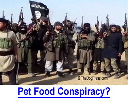 PET FOOD CONSPIRACY? Dogs die from contaminated and counterfeit food. An international conspiracy? becuase of inadequate testing by USDA.