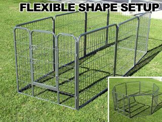portable fencing called exercise pens work for big dogs and smaller x-pens serve toy breeds inside the home.