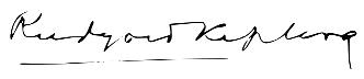 Rudyard Kipling signature
